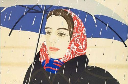 Blue Umbrella. Alex Katz. 1972.